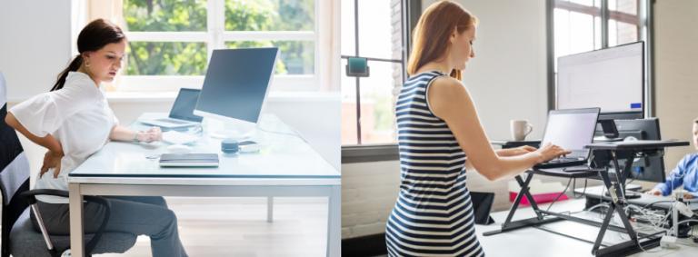 Sit and Standing Desk Benefits Desks 4 Home