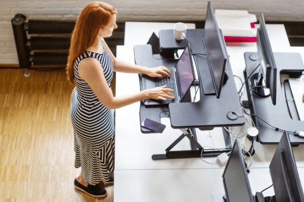 Sit and Standing Desk Benefits Example
