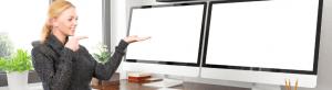 best desk for dual monitors