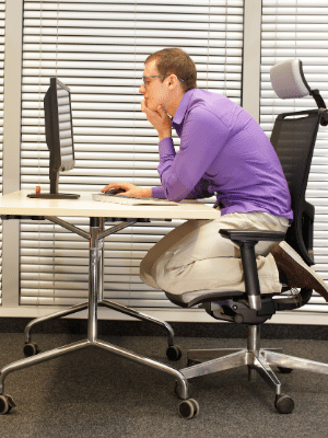 slouching forward office chair