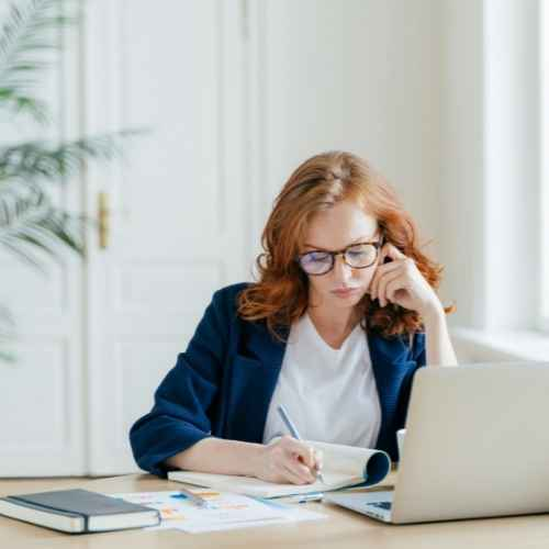 Female working at home office ideas