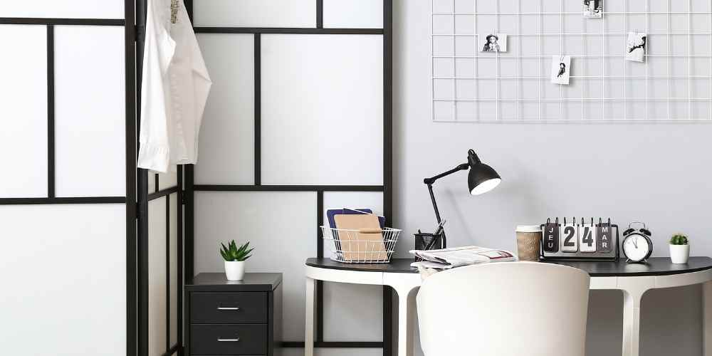 home office ideas room divider screen